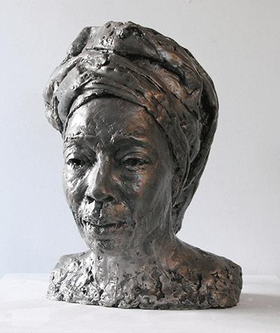 Guns to Goods Erinma Bell sculpture