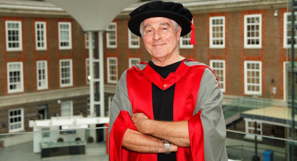 Barry Guy honorary graduate middlesex