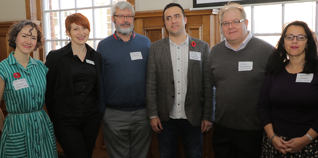 Dr Billy Clark and the other keynote speakers at the Integrating English conference