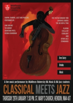Poster for Classical Meets Jazz concert