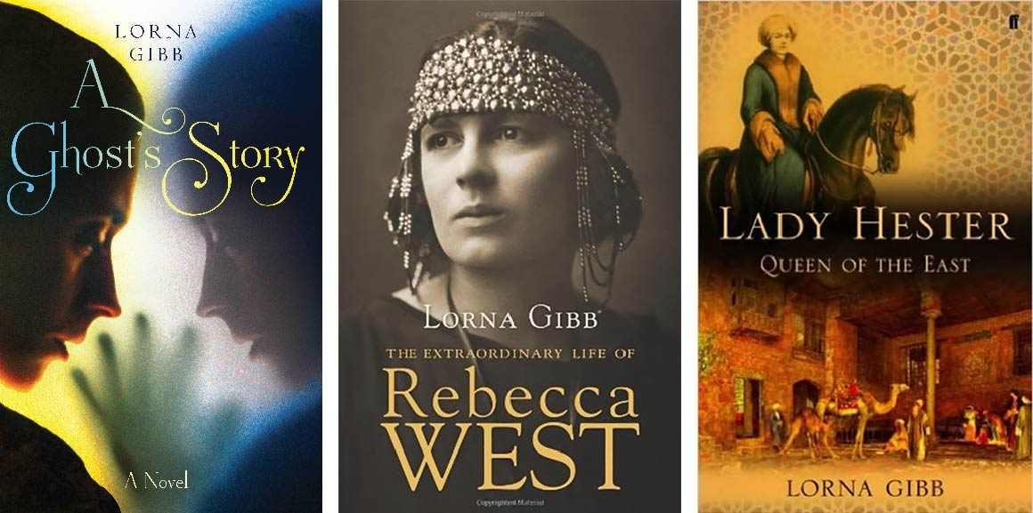 The front covers of three Lorna Gibb books