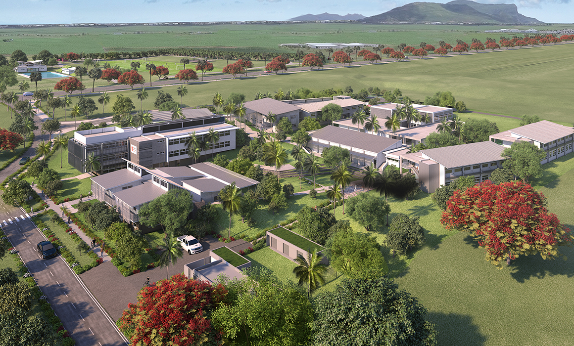 CGI image of the new Middlesex University Mauritius campus