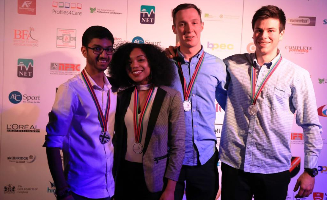 Silver medalists at the World Skills show in Birmingham