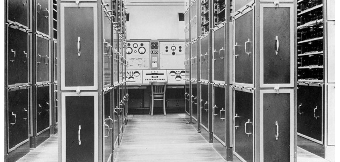 An archive photograph of the LEO I computer (Copyright: Leo Computers Society)