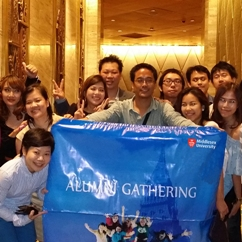 Alumni enjoying the reunion in Thailand