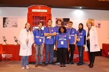 Students and staff at the UK Skills Show