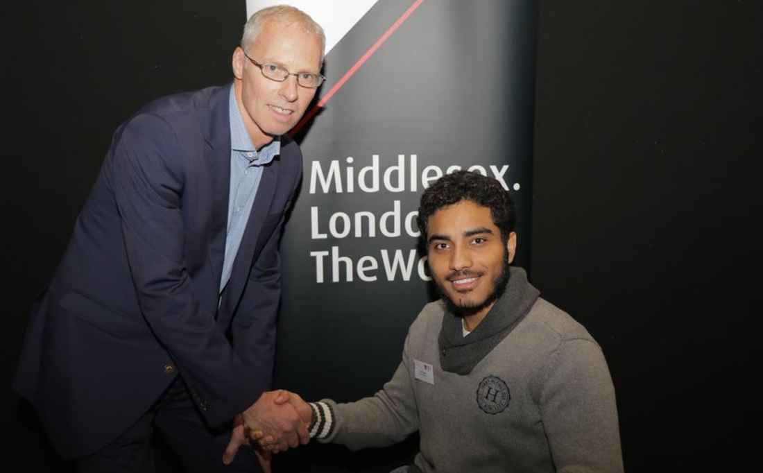 Sheikh Muhidin Sheikh with Head of Sport and Recreation Mel Parker