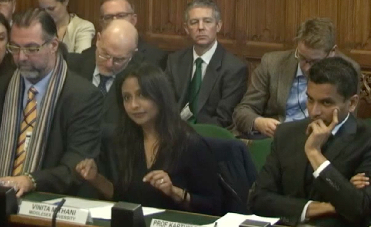 MDX lecturer and future of audit expert gives evidence to Commons Committee