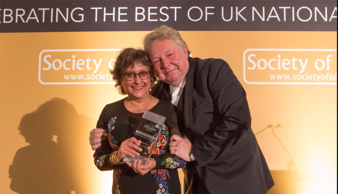 Professor Yasmin Alibhai-Brown awarded Columnist of the Year at National Press Awards