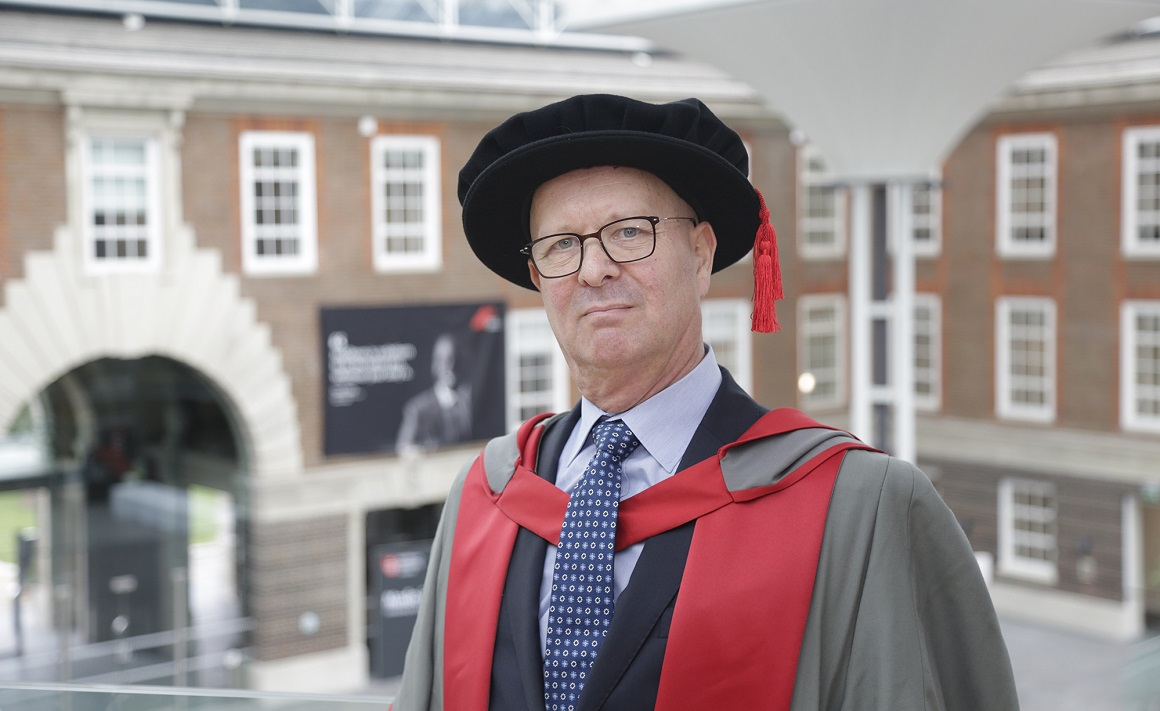 Dr Adrian Tookman at graduation