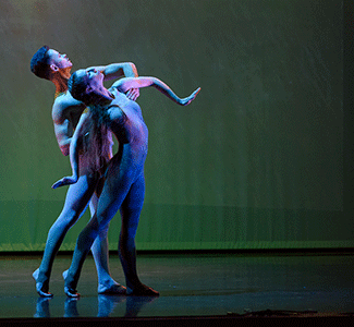 Jenn Vogtle and Joshua Chapman perform a duet from Forest by Robert Cohan