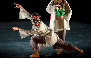 Dancers perform at ArtsCross in Beijing