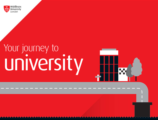 Your journey to university infographic