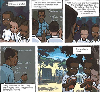 A strip from Stassen's 'Deogratias: A Tale of Rwanda'. All rights reserved.