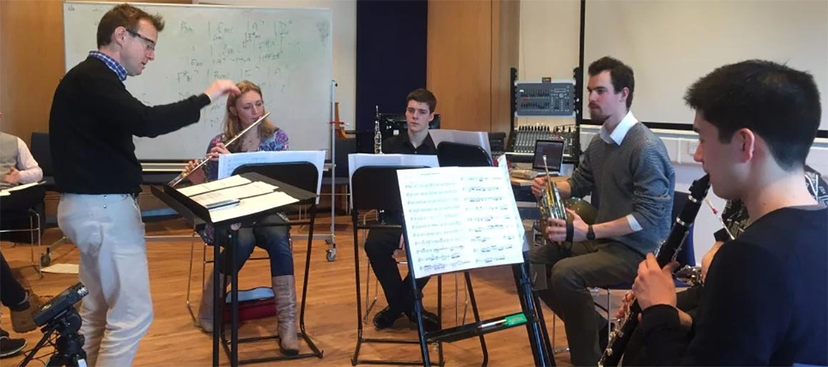 The London Firebird Orchestra's wind quintet work with Middlesex University music students