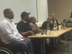 Professor Lance Williams, Eugene and Yolanda McKee, Levon Stone and Chico Tillmon
