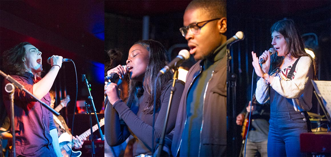 BA Popular Music students performing at the O2 Islington