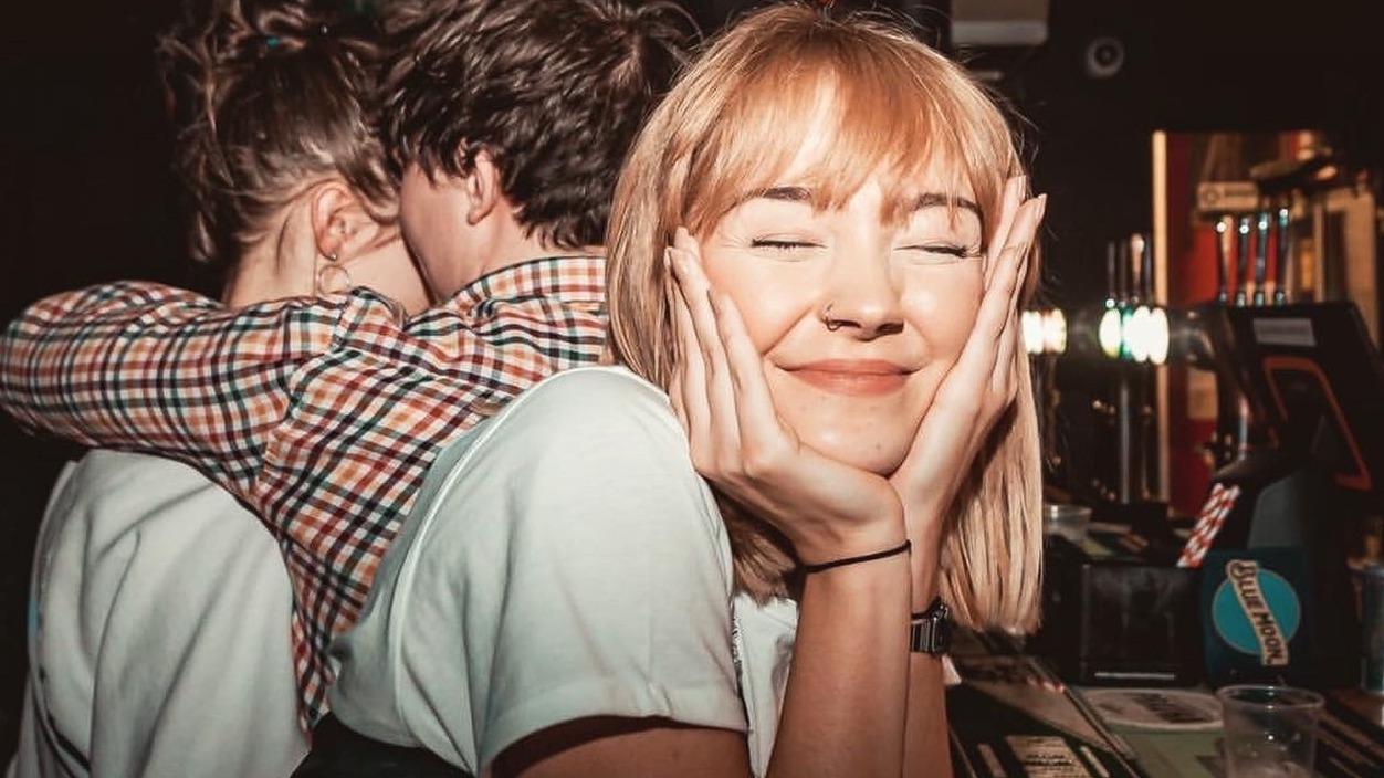 Student Isobel at a bar