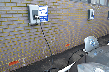 Electric vehicle charging points at Middlesex University