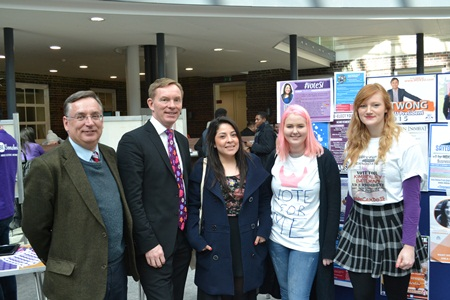 Chris Bryant meets students