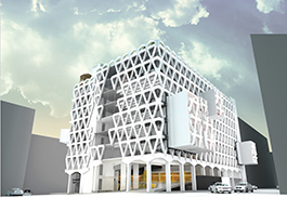 An artist's impression of an architecture project
