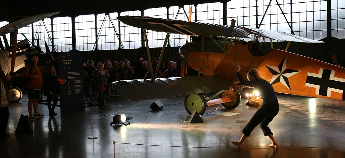 Dance students perform at the RAF Museum