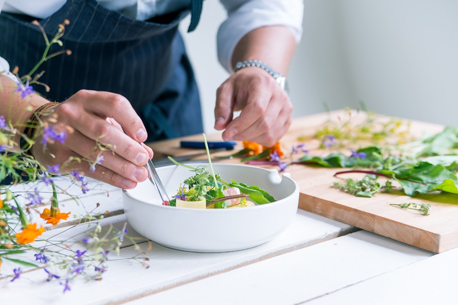 Stock photo of chef in kitchen