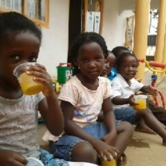 Children at the Basena Agro centre in Kampala, Uganda