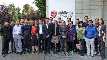 The Chinese delegation visiting the FHRC at Middlesex.