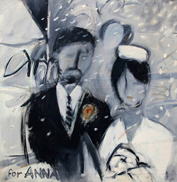 Painting of Ian Fraser and wife
