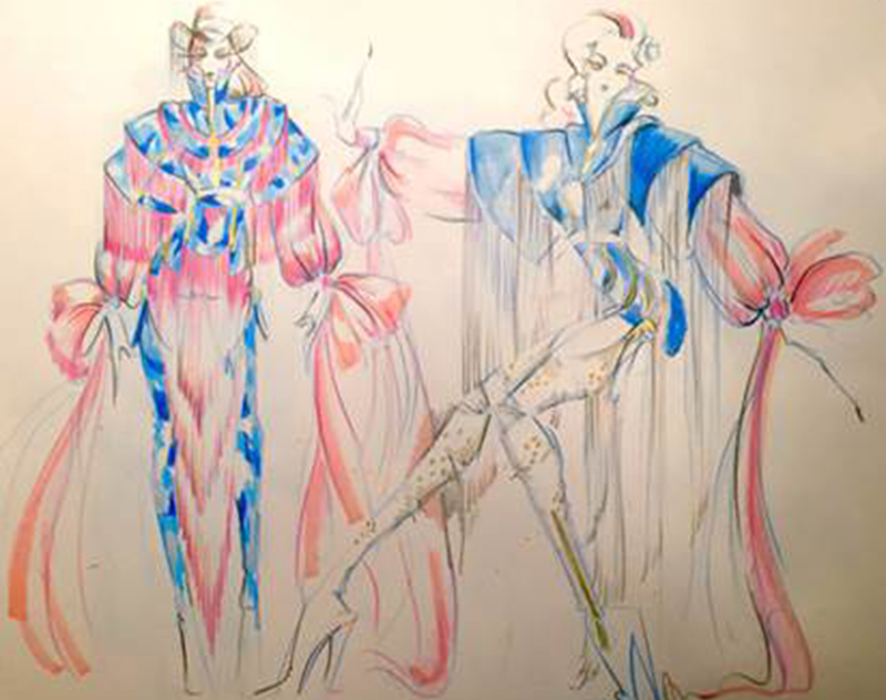Fashion design for Lady Gaga's new music video