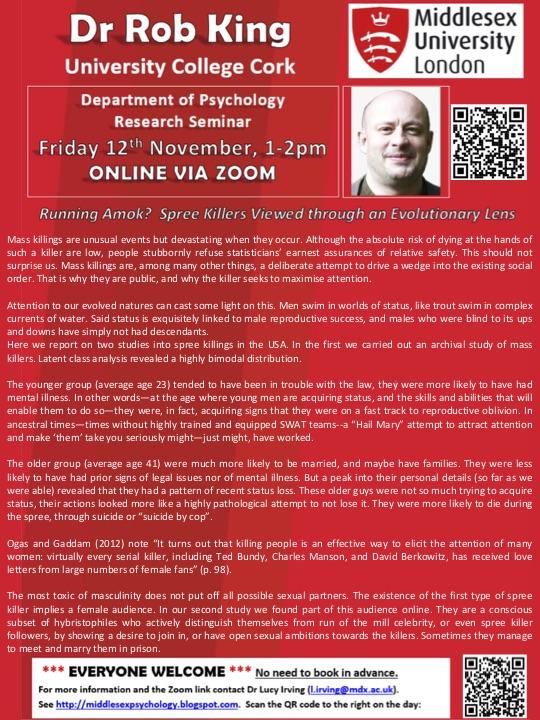 Guest seminar Fri 15 October 2021 1pm