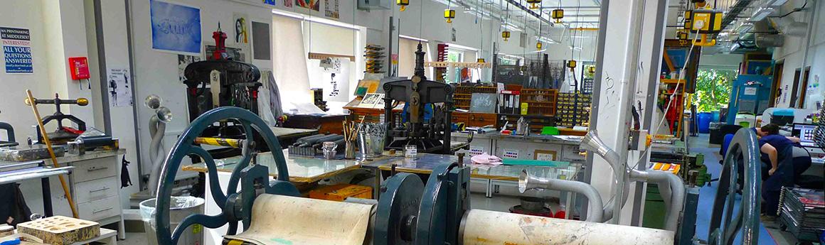 postgraduate art and design printmaking banner