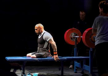 Invictus Games gold medal-winning para-powerlifter Micky Yule