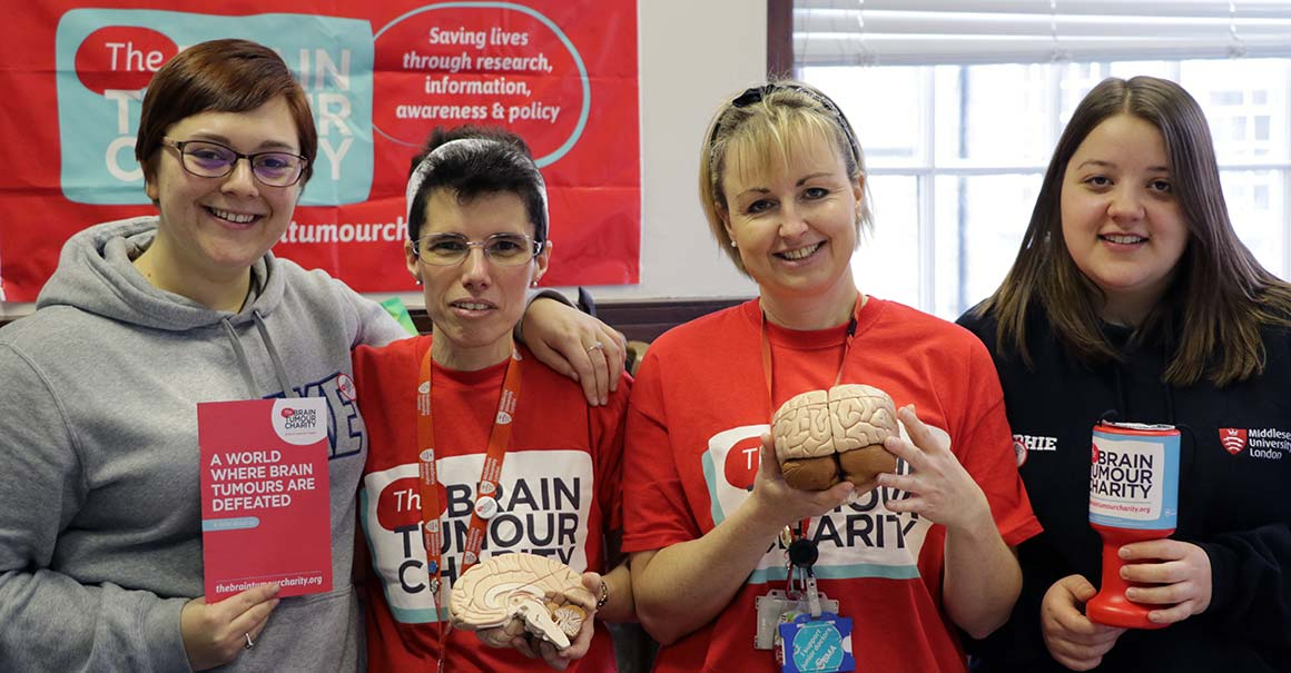 Nursing staff and students at the Brain Tumour Awareness Day
