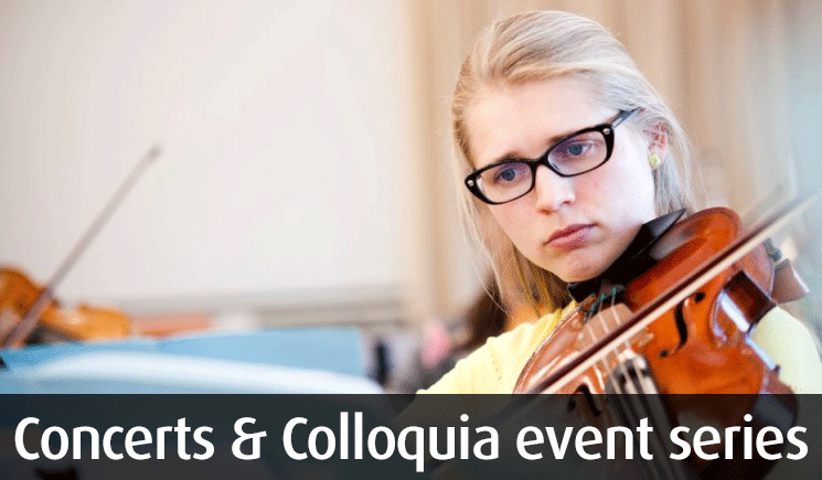 Concerts and Colloquia at Middlesex University.