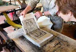 MA Printmaking lithography workshop