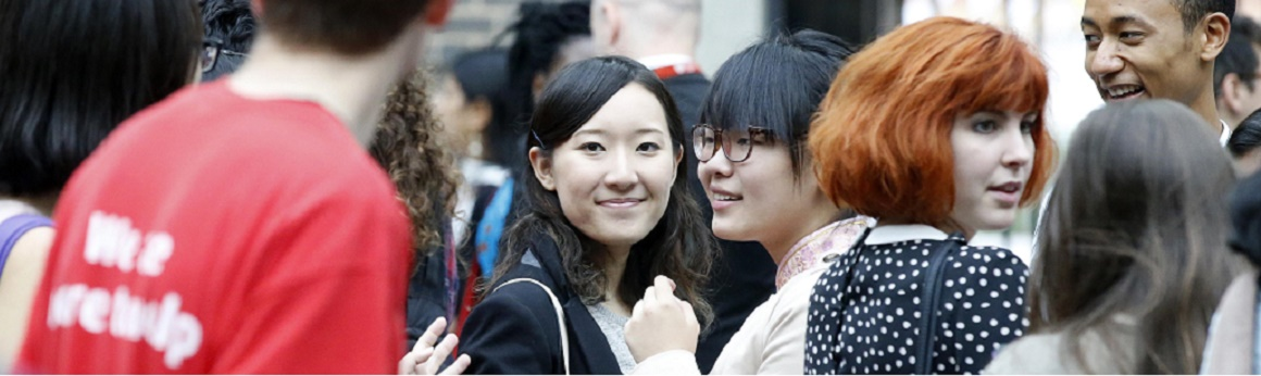 Students at a Middlesex Open Day