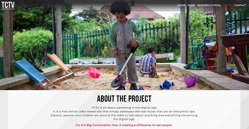 Screenshot of the Tomorrow's Child TV (TCTV) website