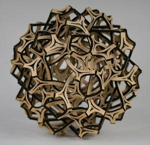 A mathematical scuplture by Professor George Hart