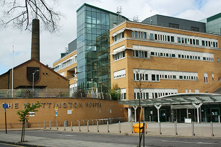 Whittington Hospital, Middlesex University partner