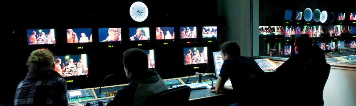 The teleivision and film editing room at Middlesex