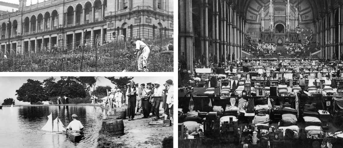 Archive images from the Alexandra Palace during World War I
