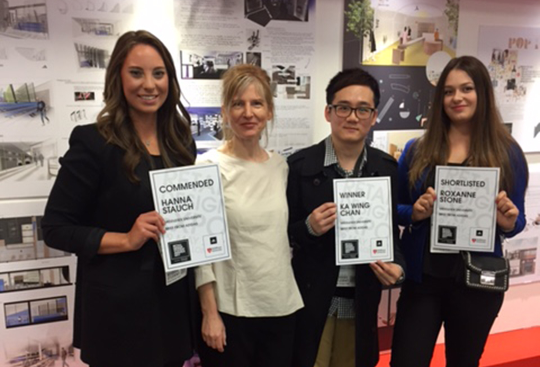 Middlesex team at the Retail Design Student Awards 2017