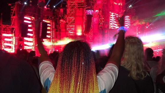 Student Jade at a concert