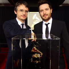 Simon Earith with his Grammy