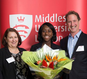 The Santander scholars receive their grant awards at a ceremony in 2014