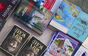 Books for sale at the North London Literary Festival