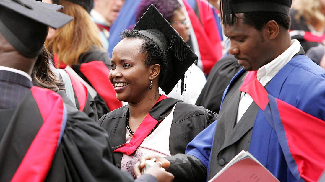 Middlesex graduates celebrating