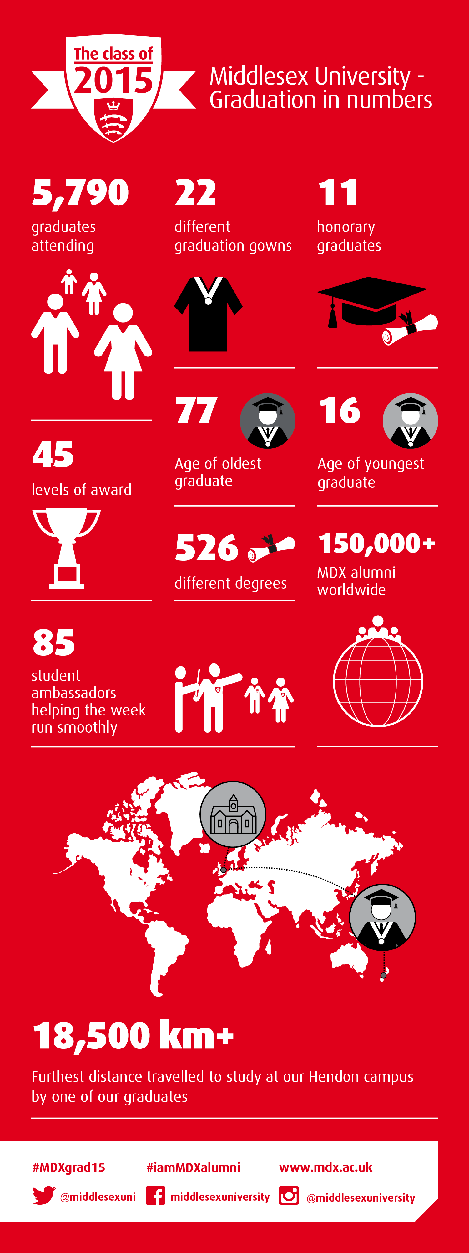 Graduation in numbers infographic